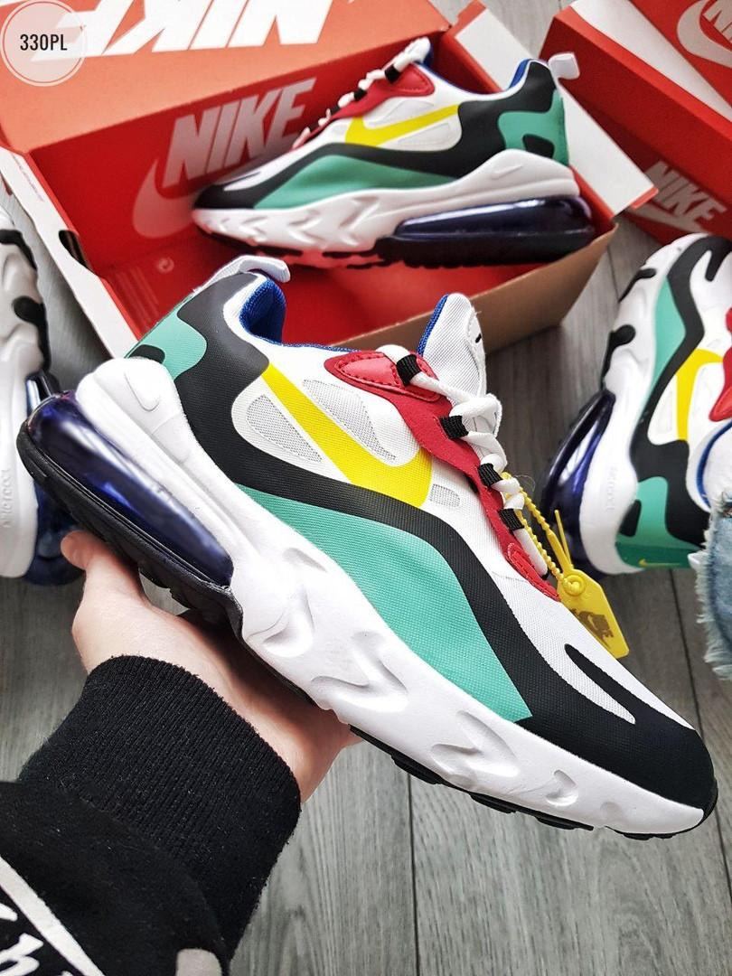 Мужские кроссовки Nike Air Max 270 React (разноцветные) 330PL