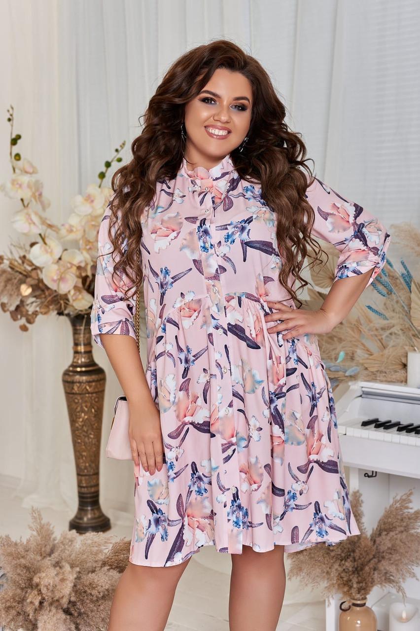 Платье стильное молодёжное свободного кроя женское