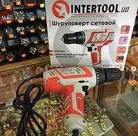 Дрель-шуруповерт электрическая 320 Вт, 220 В, 0-750 об/мин, 1.0-10 мм, 10 Нм INTERTOOL DT-0103