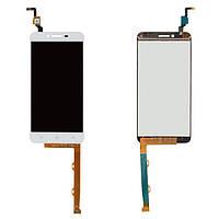 Дисплейный модуль Lenovo K5 / A6020a40 (светлый шлейф) + touchscreen white orig