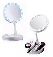 Зеркало для макияжа My Fold Jin Ge JG-988 с подсветкой, фото 1
