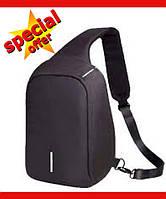 Городской рюкзак антивор Bobby Mini с защитой от карманников и USB-портом, Черный