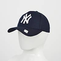 "Бейсболка ""Котон 5кл"" NY (реплика) синий, фото 1"