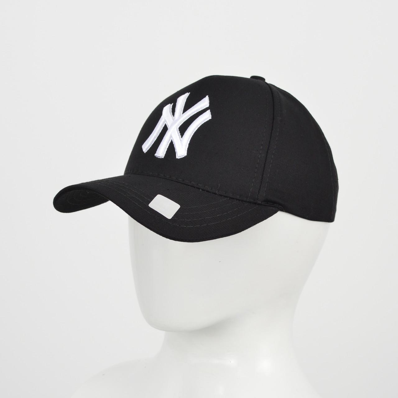 "Бейсболка ""Котон 5кл"" NY (реплика) черный+белый"