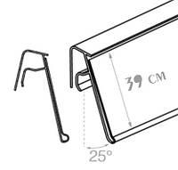 Ценникодержатели стеллажные, 1250*39мм держатели для ценников на корзину или проволку KE 39 зеленый