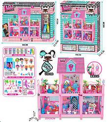 Будиночок для ляльок (дом для кукол) 8369 L.O.L. Surprise з ляльками, меблями, батар., світ., у кор. 66*
