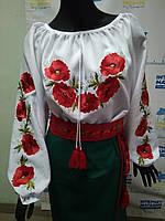 """Вишита  блузка """"Червоні маки"""""""