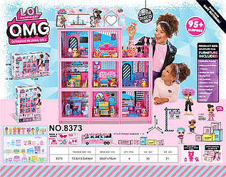 Будиночок для ляльок (дом для кукол) 8373 L.O.L. Surprise з ляльками, меблями, батар., світ. у кор. 73,5