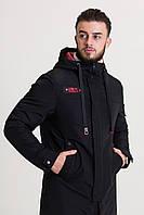 Демисезонная мужская куртка черная (46-54рр)