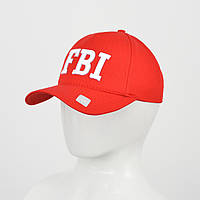 """Бейсболка """"Котон 5кл"""" FBI (реплика) красный"""