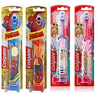 "Электрическая детская зубная щетка на батарейках ""Colgate"" BatMan несъёмная насадка TP0022"