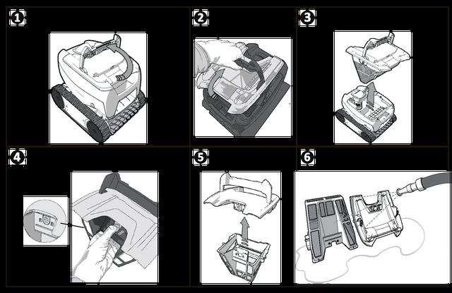 как достать и помыть фильтр в роботе Zodiac Tornax