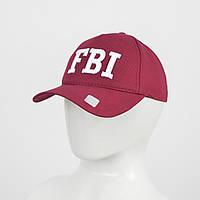 "Бейсболка ""Котон 5кл"" FBI (реплика) бордо"