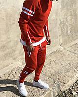 Спортивный мужской костюм с полосками 60026, фото 1