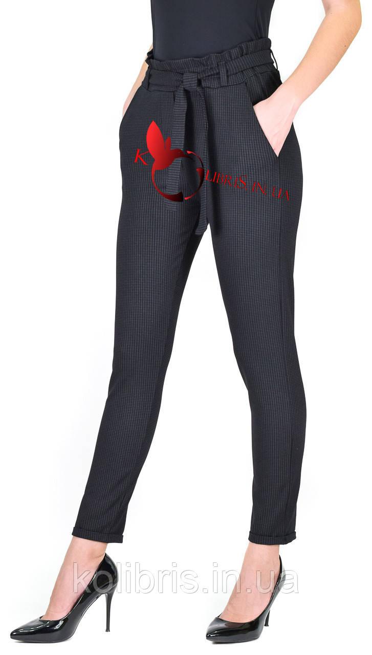 Брюки-лосины трикотажные манжет черный цвет  р.42-48