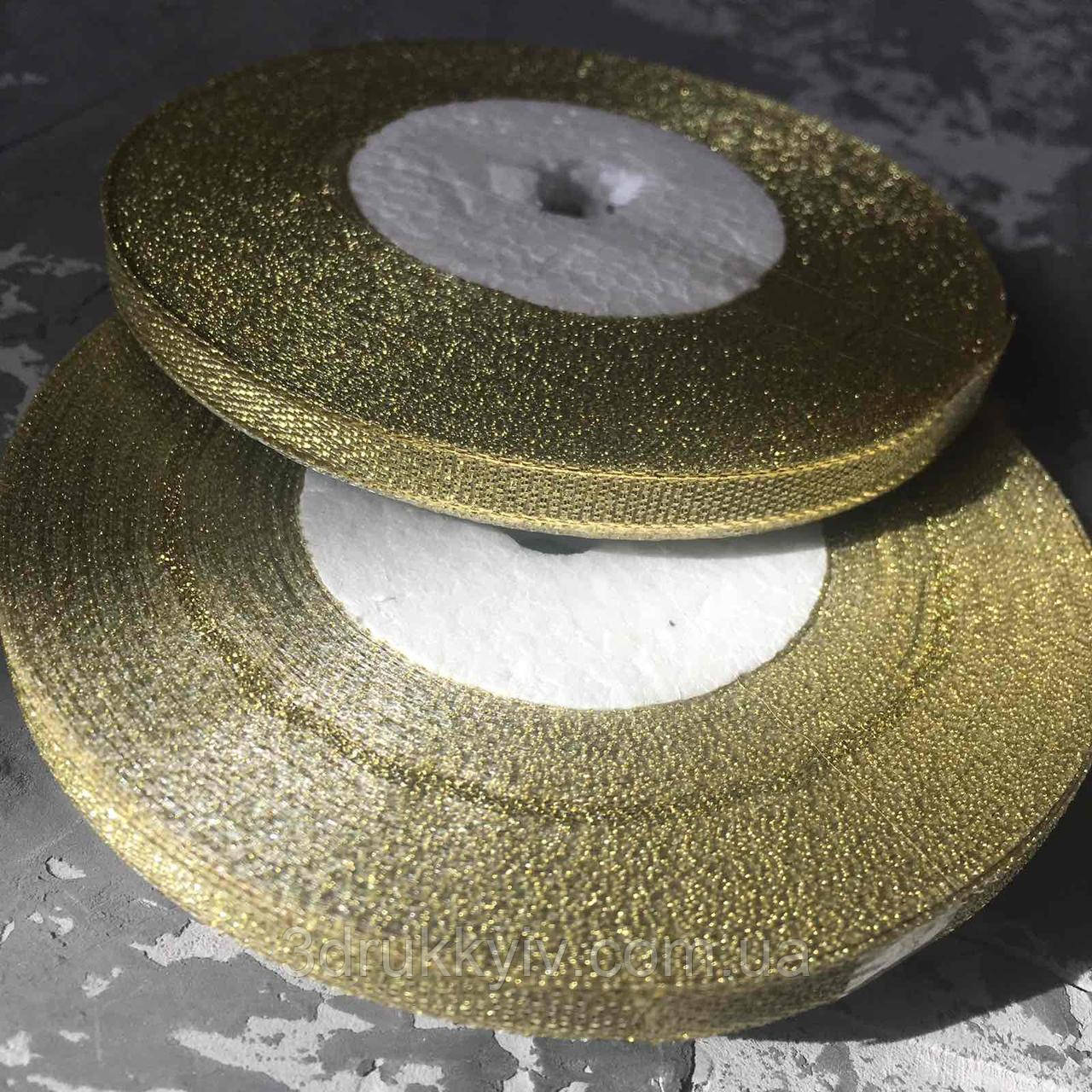 Стрічка з парчі золота 0,6 см. / Лента из парчи золотая