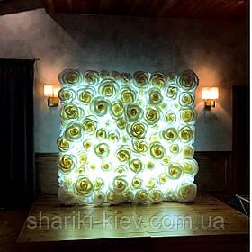 Светящаяся фотозона Стена из Роз Аренда