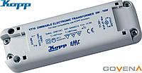Диммируемый трансформатор KOPP без минимальной нагрузки 12В 0-70Вт