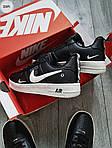 Мужские кроссовки Nike Air Force Low Black/White (326PL), фото 2