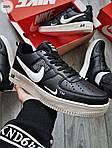 Чоловічі кросівки Nike Air Force Low Black/White (326PL), фото 3