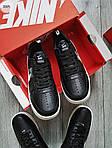 Чоловічі кросівки Nike Air Force Low Black/White (326PL), фото 4