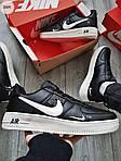 Мужские кроссовки Nike Air Force Low Black/White (326PL), фото 6