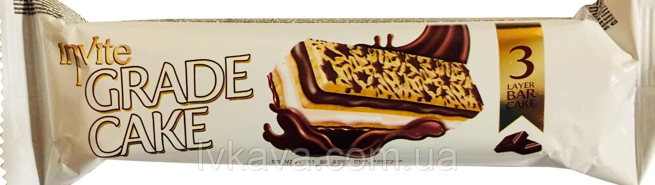 Бісквіт INVITE Grade cake з шоколадним соусом молочним кремом , 25 гр