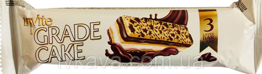 Бісквіт INVITE Grade cake з шоколадним соусом молочним кремом , 25 гр, фото 2