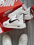 Мужские кроссовки Nike Air Force Low White/Black (325PL), фото 3