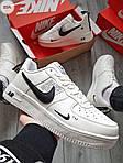 Мужские кроссовки Nike Air Force Low White/Black (325PL), фото 4