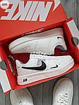 Мужские кроссовки Nike Air Force Low White/Black (325PL), фото 6