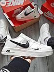Мужские кроссовки Nike Air Force Low White/Black (325PL), фото 5