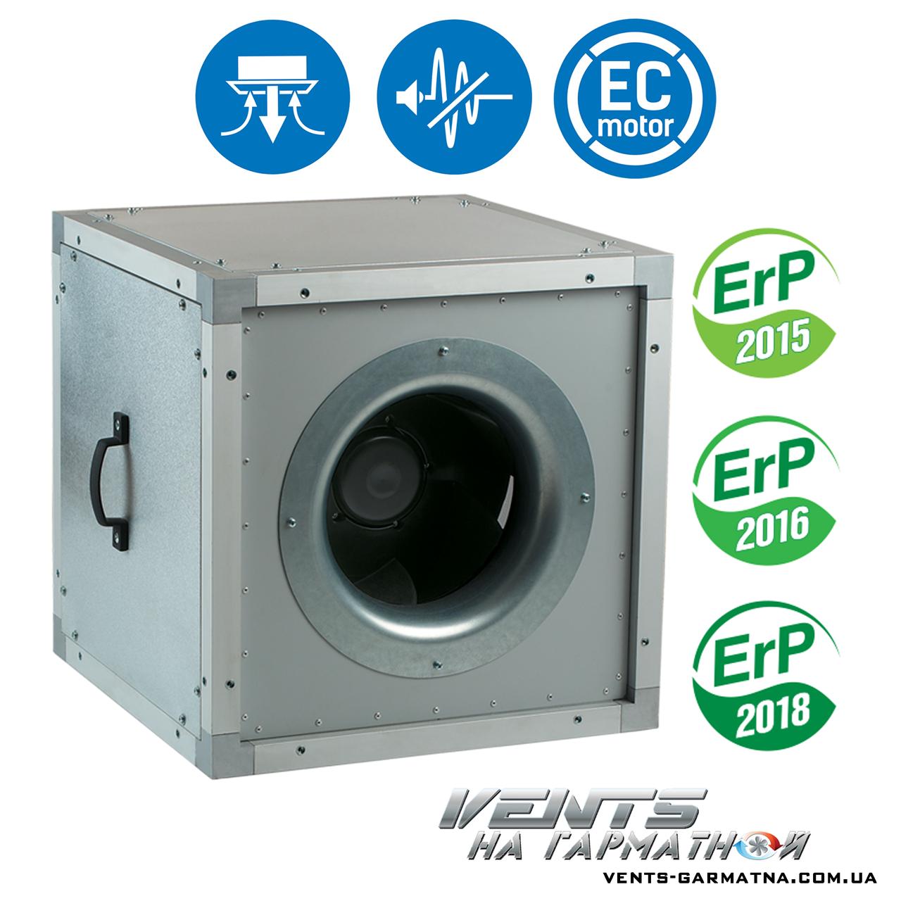 Вентс ВШ 500 ЕС. Шумоизолированный вентилятор с ЕС-мотором