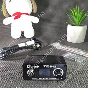 Паяльная станция QUICKO T12-942 MINI OLED на жалах Hakko T12