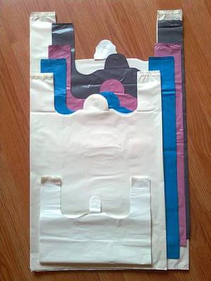 Белые пакеты-майка без печати