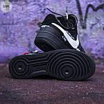 Чоловічі кросівки Nike Air Force x off-White/Black - 320PL, фото 3