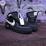 Чоловічі кросівки Nike Air Force x off-White/Black - 320PL, фото 4