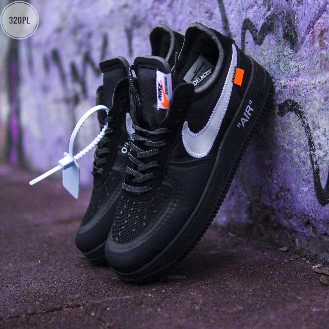 Чоловічі кросівки Nike Air Force x off-White/Black - 320PL