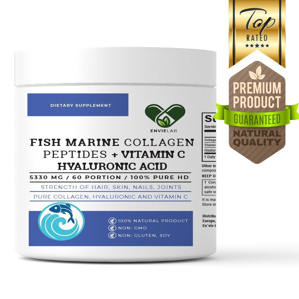 Морской РЫБИЙ коллаген 5330 мг. En`vie Lab FISH MARINE (2 месяца курс 60 порций)