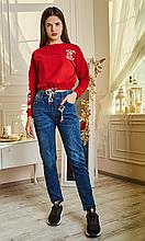 Джинсовые лосины имитирующие штаны до 58 размера