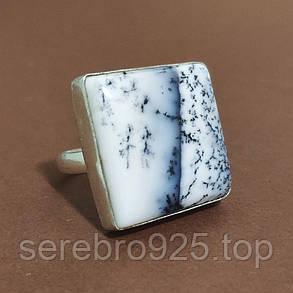 Кольцо с дендроопалом в серебре, фото 2