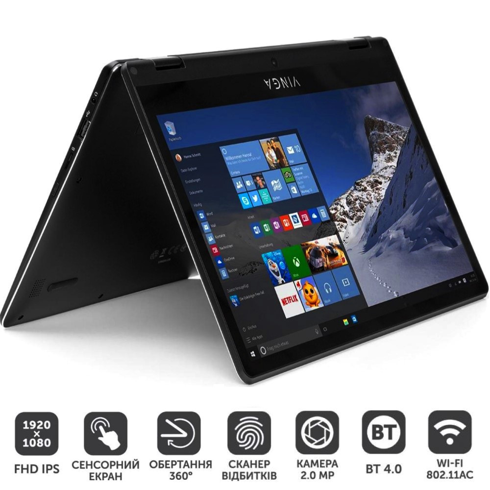 Ноутбук Vinga Twizzle J116 C40464B Нетбук (Windows 10)