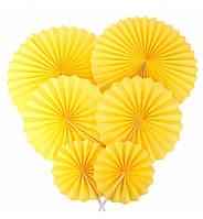 """Подвесные веера """"Yellow"""", набор 6 шт"""