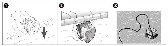 как правильно погрузить робот-пылесос в бассейн