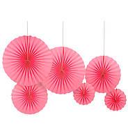 """Подвесные веера """"Pink"""", набор 6 шт"""