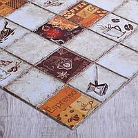 Стінні декоративні пластикові панелі ПВХ Грейс (Grace) - плитка ЕСПРЕСО (964x484) мм