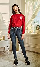 Женские джинсовые лосины имитирующие брюки