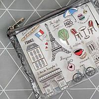 Косметичка пластиковая прозрачная Париж (KPR_19A022_SE)