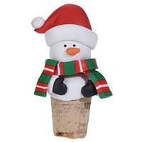 Пробка для бутылки новогодняя Снеговик (IMP_NG_44_3_SNOW)