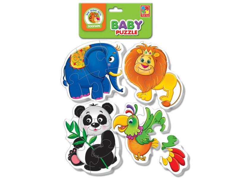 Беби пазлы Vladi-Toys Зоопарк 4 шт (VT1106-50)